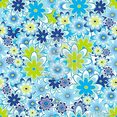 Flower seamless tile