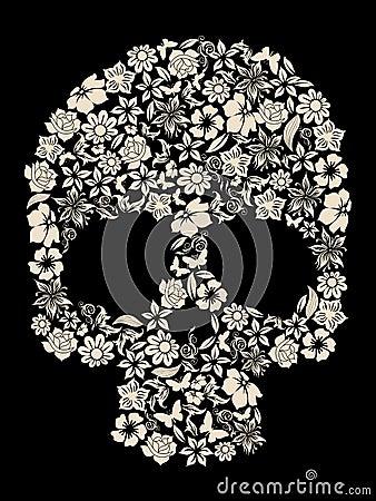 Free Flower Skull Vector Stock Photos - 10716313