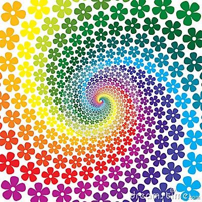 Flower Spiral Background