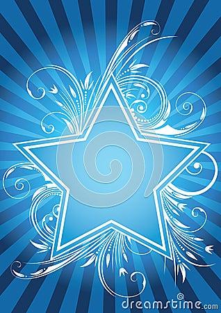 Flower star design