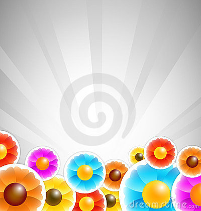 Flower stickers background
