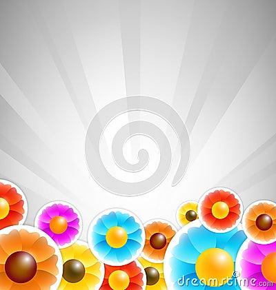 Flower stickers background