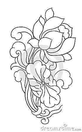 FLOWER TATTOO Oriental floral