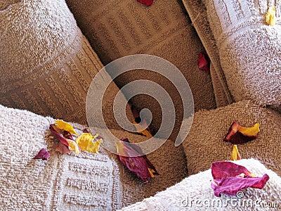 Flower towels