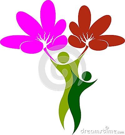 Flower tree man