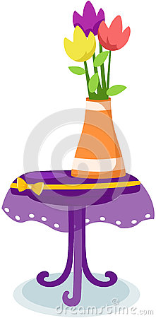 flower tulips in vase on  table