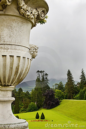 Flower vase at Powerscourt