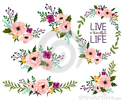 Flower vector set Vector Illustration