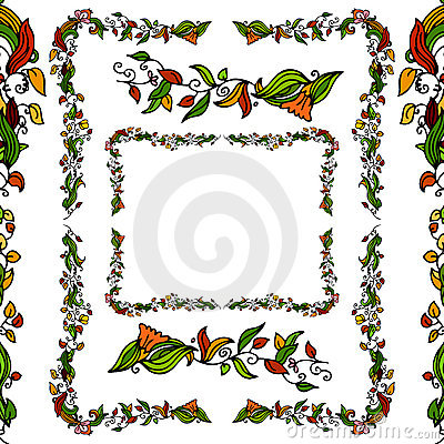 Flower Vine Border Set