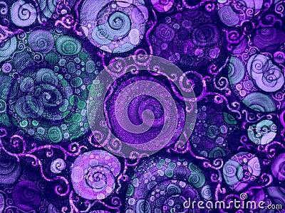 Flower Vines Shells Texture