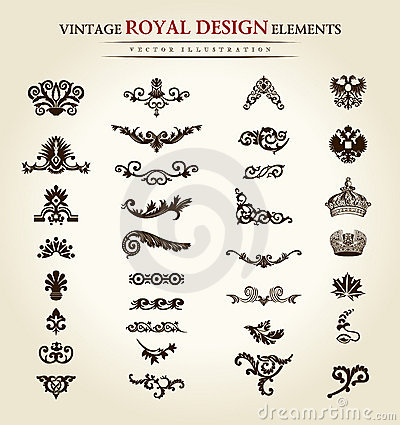 Flower vintage royal design element