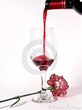 Free Flower Wine Bottle Glass Royalty Free Stock Photography - 617917