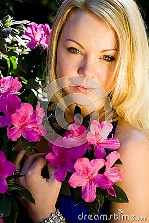 Free Flower Woman Stock Photo - 6172400