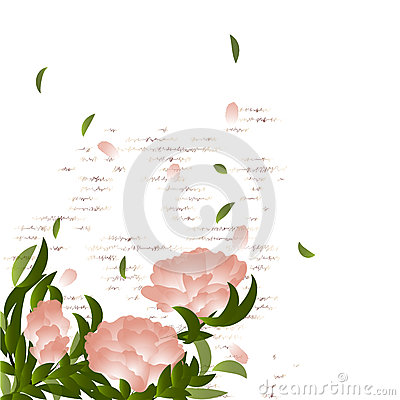 Flowering branch on grunge background