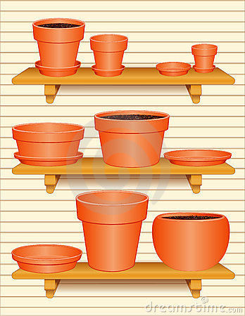 Free Flowerpot Collection  Royalty Free Stock Photo - 4311345