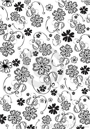 Free Flowers Abstract Pattern Royalty Free Stock Photography - 7356587