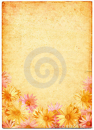 Flowers on Ancient Paper