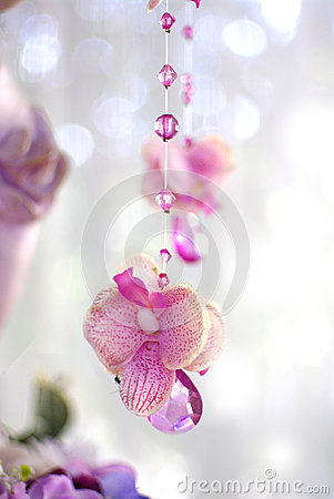 Free Flowers And Beads Curtain Decorative For Wedding Royalty Free Stock Photos - 36092868