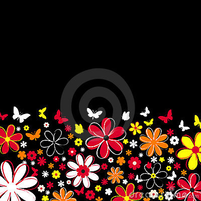 Free Flowers And Butterflies Royalty Free Stock Image - 517136
