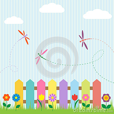Free Flowers And Dragonflies Royalty Free Stock Photos - 25169928