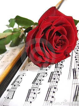 Free Flowers And Music Royalty Free Stock Images - 4068699
