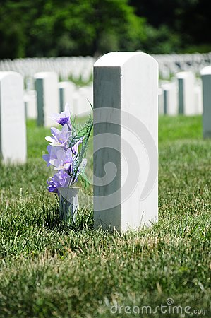 Flowers at Arlington Cemetery