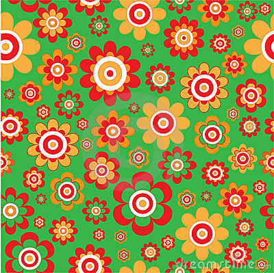 Flowers background. Seamless
