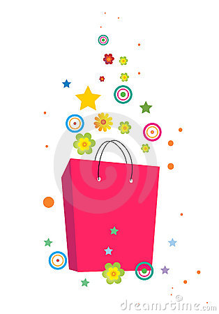 Flowers and bag