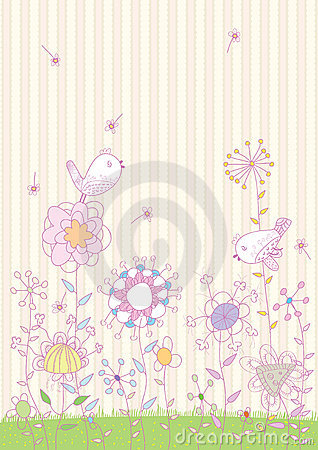 Flowers Birds Land_eps