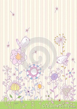 Flowers Birds Land_eps