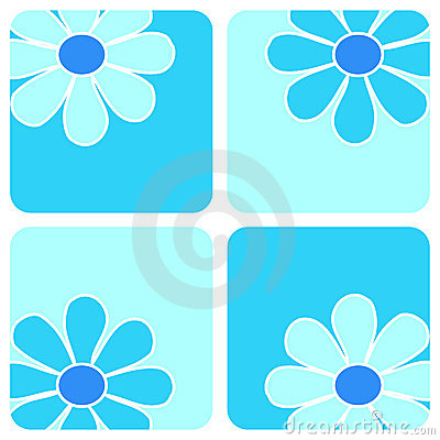 Flowers - Blue composition