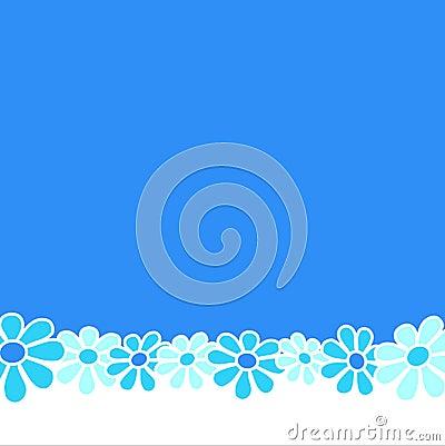 Flowers - Blue composition