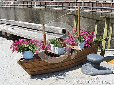 Flowers boat