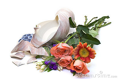 White Flower Vase