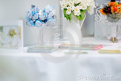Flowers composition on a table