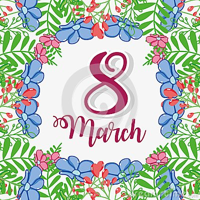 Free Flowers Design With Fucsia March 8 Royalty Free Stock Photo - 110346055