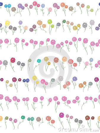 Flowers Divider Seamless Pattern_eps