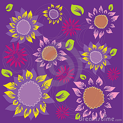 Flowers and Foliage Pattern - Sunflowers