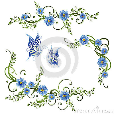 Free Flowers, Forget Me Not Royalty Free Stock Photo - 38463935