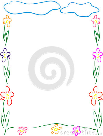 Flowers frame or border