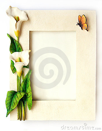 Flowers frame white arum lilies flower