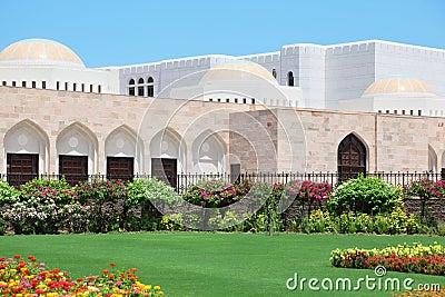 Flowers in garden inside Sultan s Palace in Oman