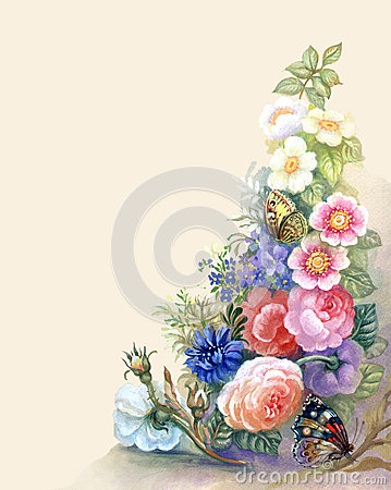Free Flowers Garland Royalty Free Stock Photo - 26890815