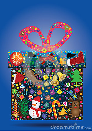 Flowers Gift Christmas Items_eps