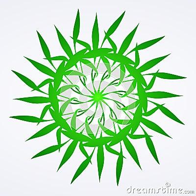 Flowers green ornament detail