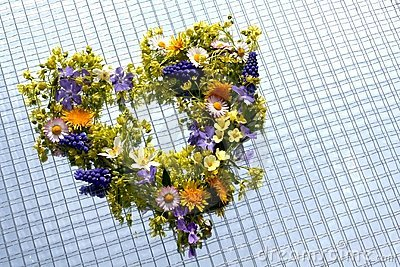 Flowers in heart shape