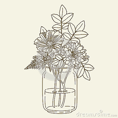 Free Flowers In Mason Jar Royalty Free Stock Images - 72547249