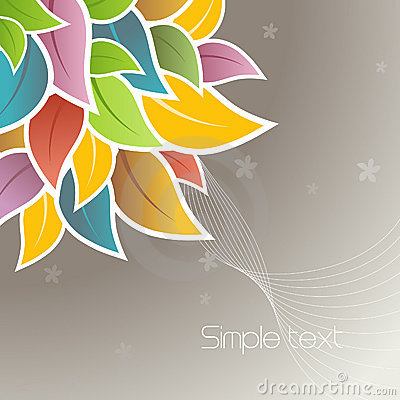 Free Flowers In The Corner. Vector Royalty Free Stock Image - 9108646