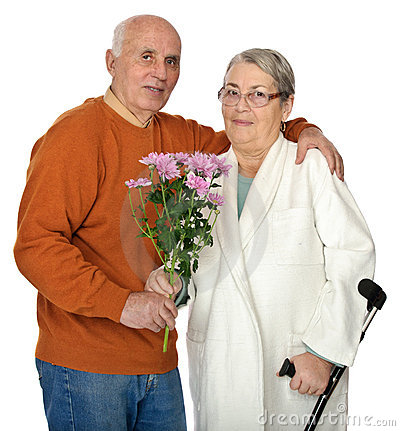 Flowers for injured wife