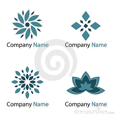 Free Flowers Logos - Blue Royalty Free Stock Photo - 13513685